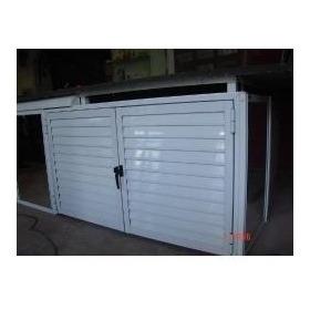 Puertas Bajo Parrillas De Aluminio Blanco