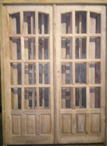puertas con laterales madera algarrobo