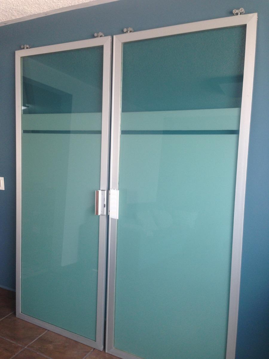 Puertas corredizas de aluminio y vidrio tintex verde - Puerta de aluminio con cristal ...