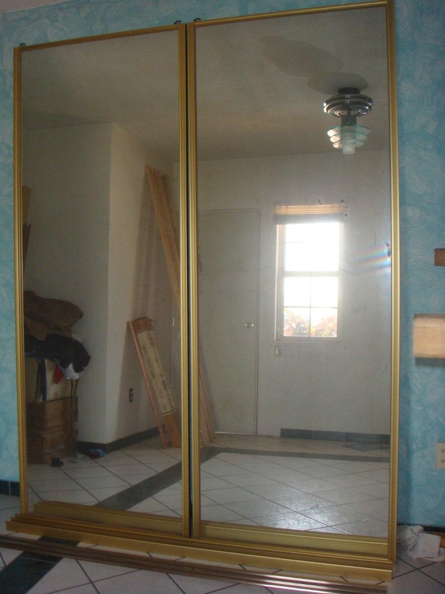 Puertas corredizas de closet con espejos 2 en for Puertas corredizas para closet