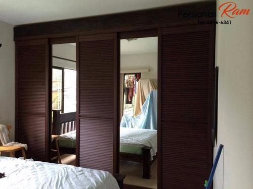 puertas corredizas venecianas de pvc (ventiladas)