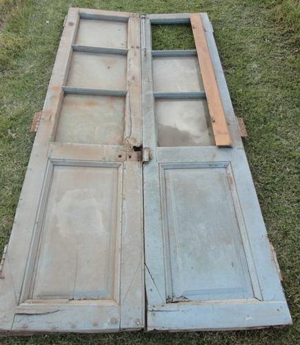 puertas de 2 hojas de cedro para restaurar