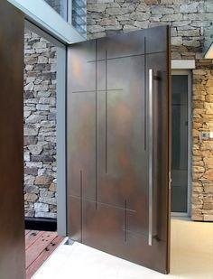 puertas de acero maderadas todo tamaño pivotantes credito