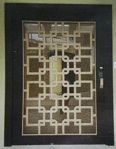puertas de acero pivotante maderadas tipo multilock credito