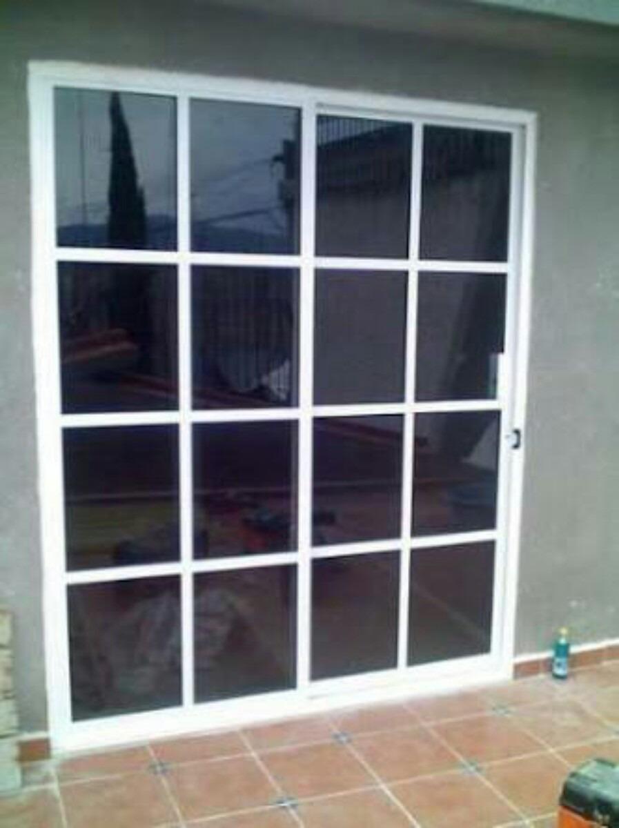 Puertas de aluminio 1950 1 en mercado libre for Puertas corredizas aluminio para exterior