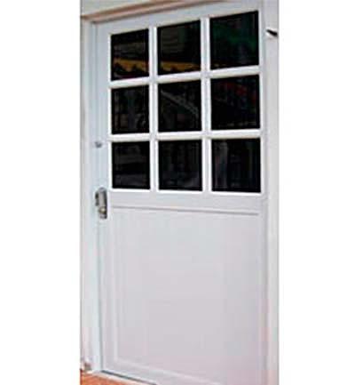 Puertas de aluminio en diferentes dise os y colores for Puerta y media de aluminio