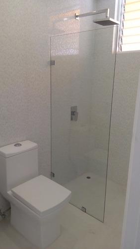 puertas de baño batiente + fijo lateral - diseños en l