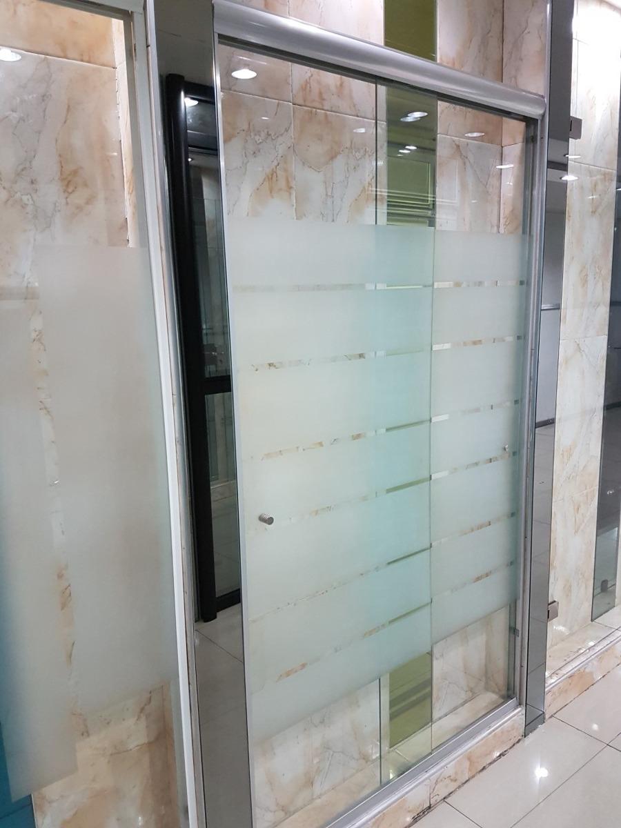 Puertas de ba o corredizas cristal templado 6 mm seguridad - Puertas de bano corredizas ...