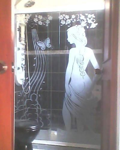 puertas de baño corredizas esmeriladas
