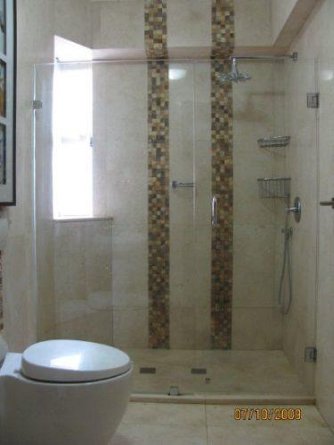 puertas de baño de cristal templado puertas plegables