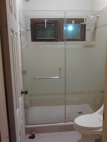 puertas de baño en vidrio templado, somos tienda fisica