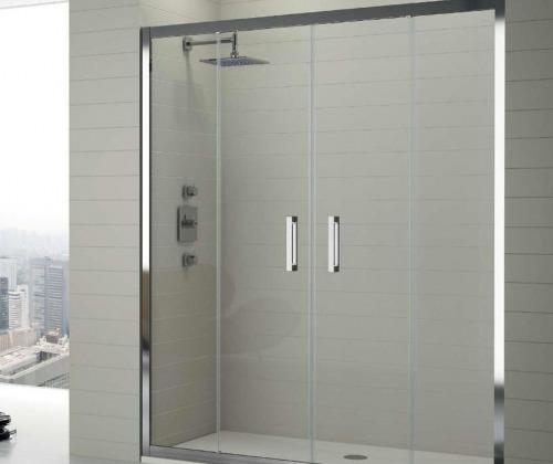 Puertas de ducha en vidrio temaplado accesorios de acero s 20 00 en mercado libre - Vidrios para duchas ...