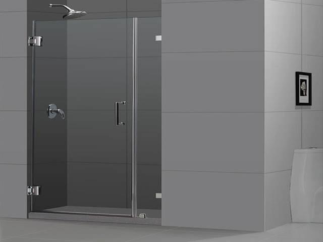 Puertas de ducha en vidrio temaplado accesorios de acero for Puerta cristal templado