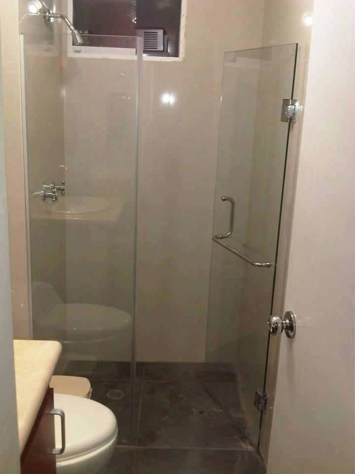 Puertas de ducha en vidrio templado arenadas acero inox for Pasamanos para ducha