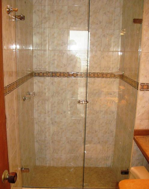 Puertas de ducha en vidrio templado y acrilico s 120 00 - Puertas de vidrio templado ...