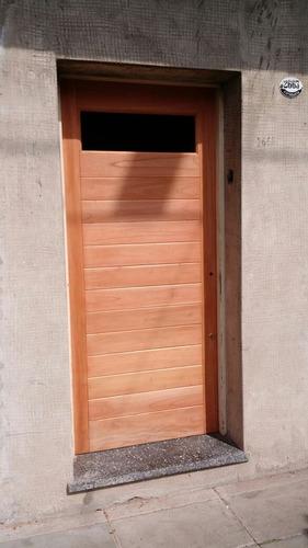 puertas de entrada modernas  en madera
