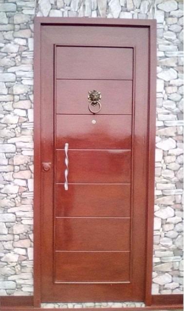 Puertas de fierro imitacion madera s 990 00 en mercado for Puertas imitacion madera exterior