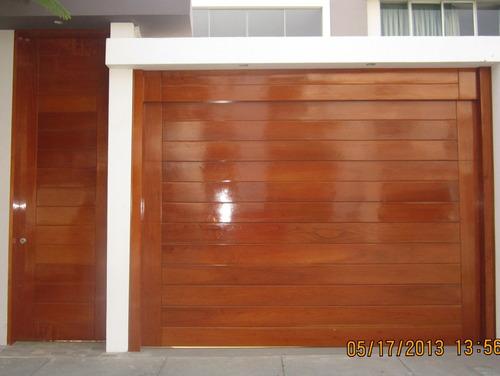puertas de garaje en madera y fierro,seccionales-levadizos