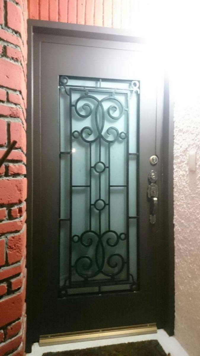 Puertas de herreria 10 en mercado libre for Puertas de madera con herreria