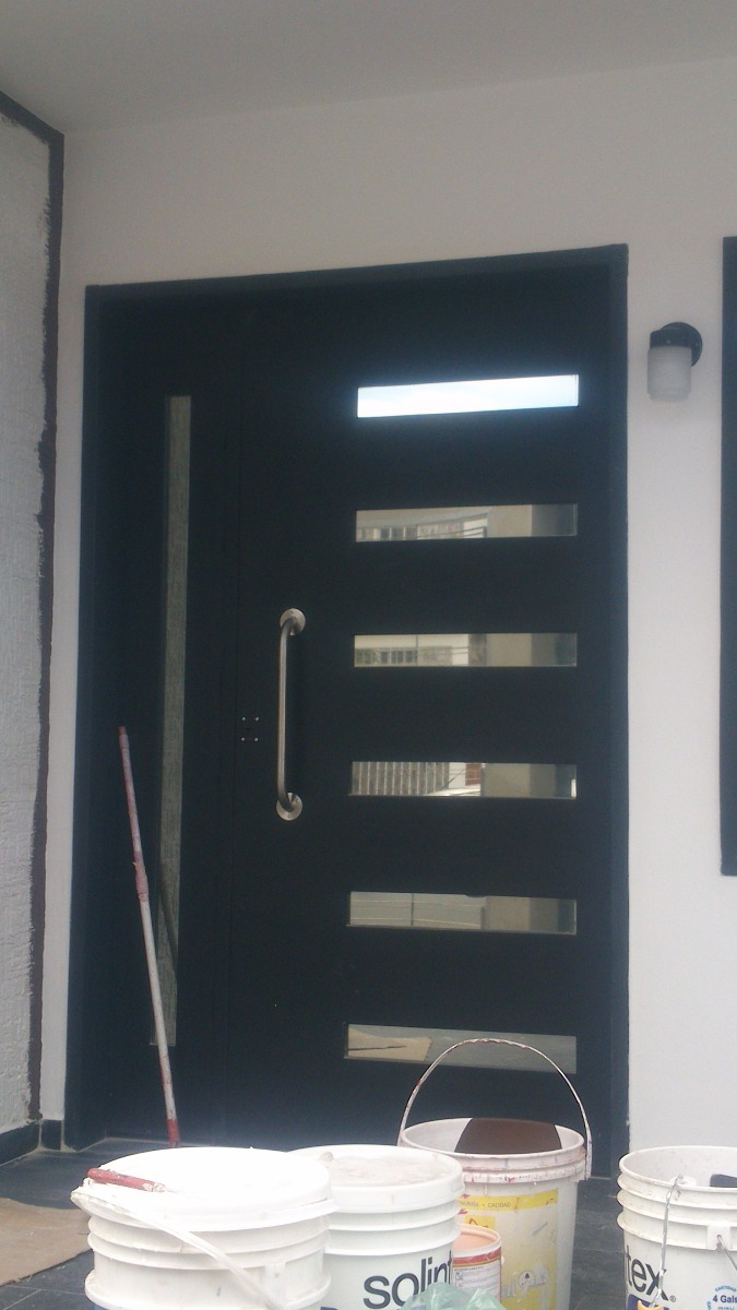 Puertas De Hierro Principal Moderna Con Cerradura - Bs. 956.000,00 ...