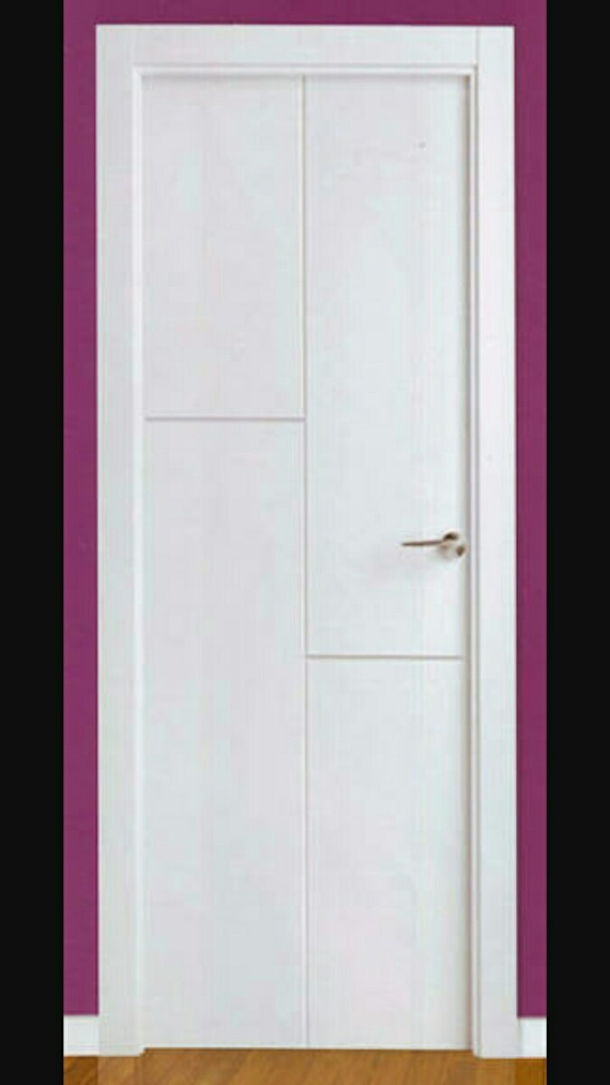 Puertas de madera 3 en mercado libre for Puertas de paso blancas