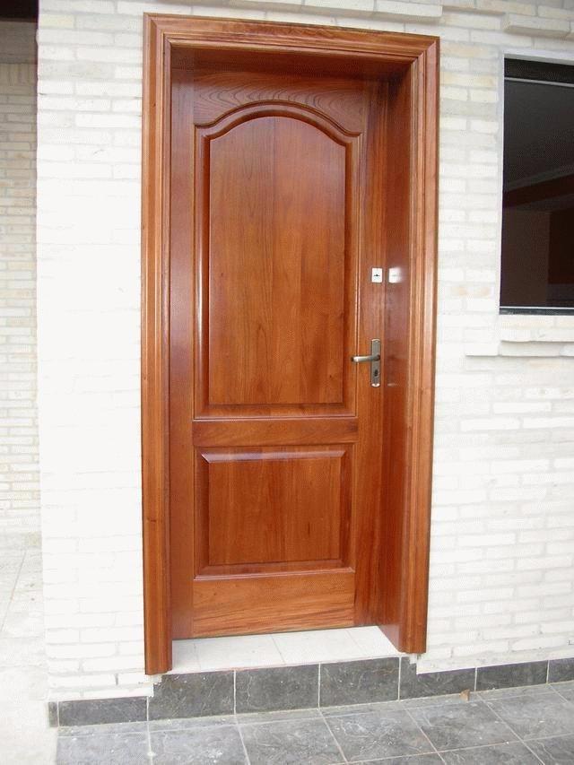 Puertas de madera exterior e interior s 230 00 en for Disenos puertas de madera exterior