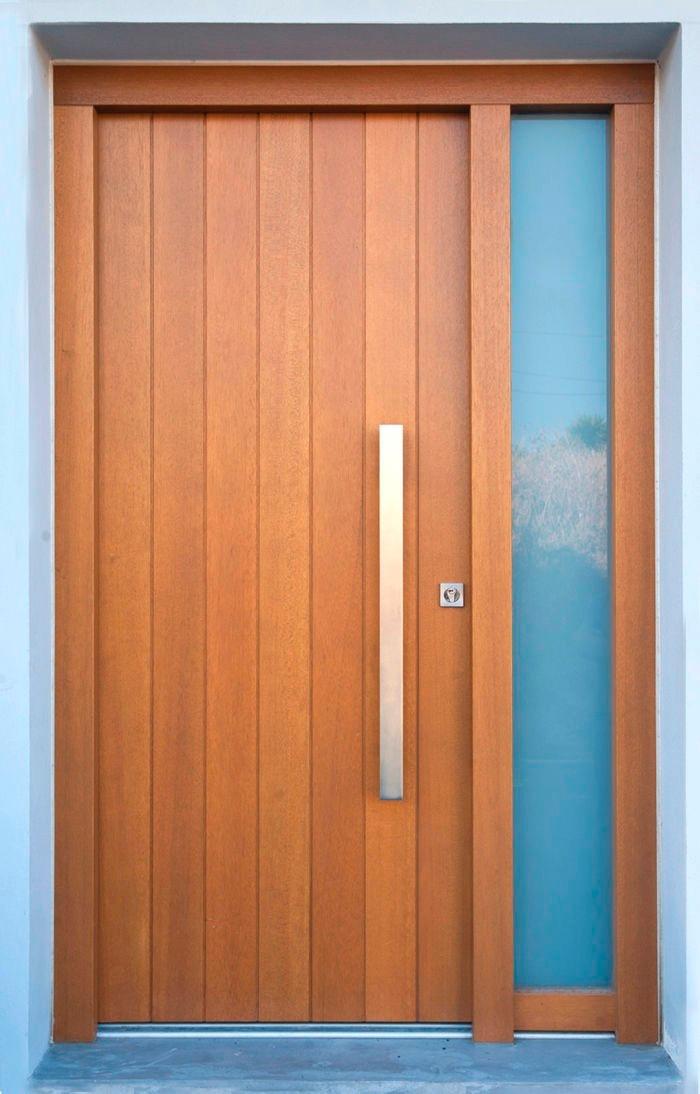 Puertas de madera exterior e interior s 230 00 en for Puerta de madera exterior usada