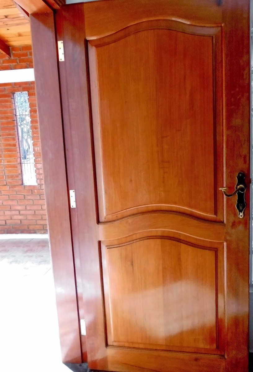 Puertas de madera exterior e interior s 230 00 en for Puertas de dormitorios en madera