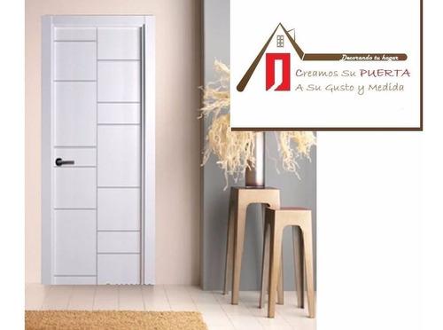puertas de madera macizas en mdf modelo nevada