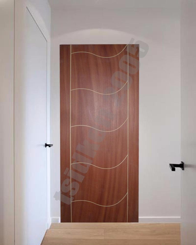 Puertas de madera mdf modernas semi macizas bs for Puertas semi macizas blancas