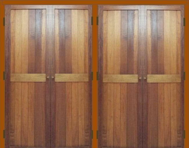 Puertas de madera para closet bs en mercado libre - Puertas usadas de madera ...