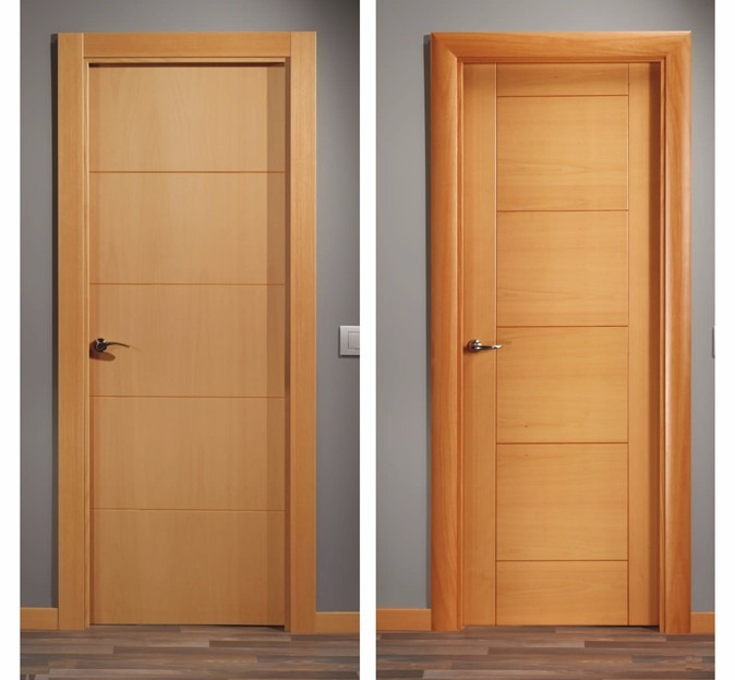 Puertas de madera y contraplacada con instalacion s 220 for Puertas de madera interiores baratas