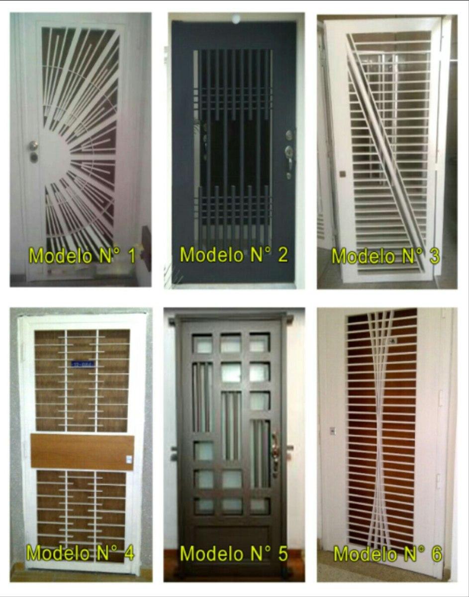 Puertas de seguridad rejas de seguridad ventanas bs 30 00 en mercado libre - Puertas de reja ...