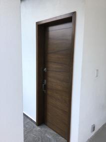 Puertas De Tambor Con Chapa De Nogal