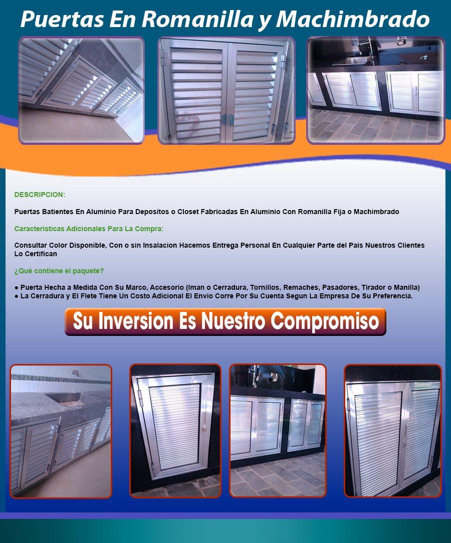 Puertas en aluminio y vidrio bs en mercado libre - Puertas en aluminio y vidrio ...