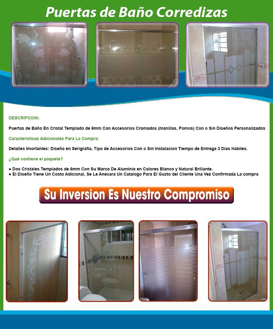 Puertas en aluminio y vidrio bs en mercado libre for Puertas en aluminio y vidrio