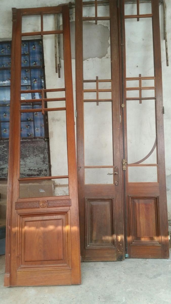 puertas en cedro antiguas restauradas en