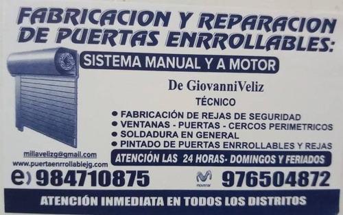 puertas enrollables manual y a motor gm,