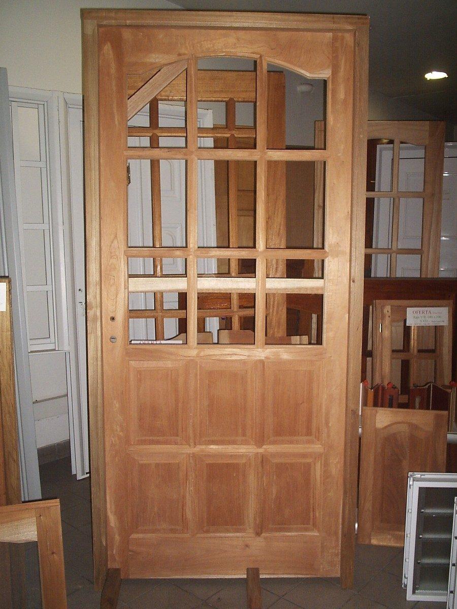 Ventanas de madera exteriores ventana de madera de - Puertas exteriores madera ...