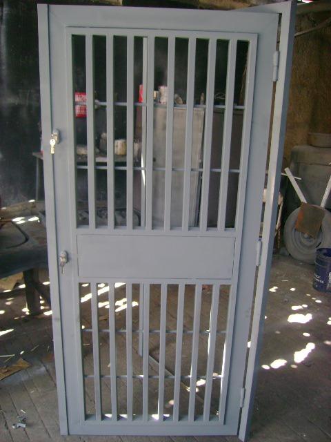 Puertas hierro metalicas entamborada marcos p bloque - Puertas de entrada metalicas precios ...
