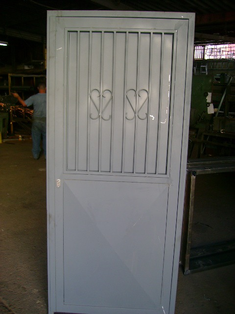 Precio puertas de hierro puerta reja de seguridad ventana for Puertas metalicas precios