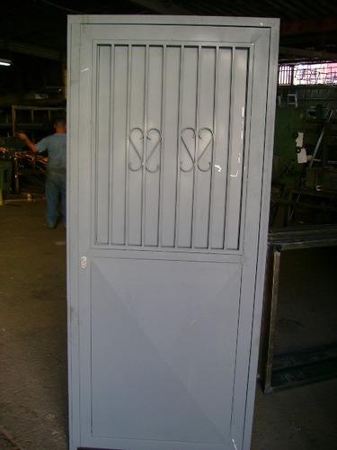 puertas hierro metalicas entamborada marcos p/ bloque rejas
