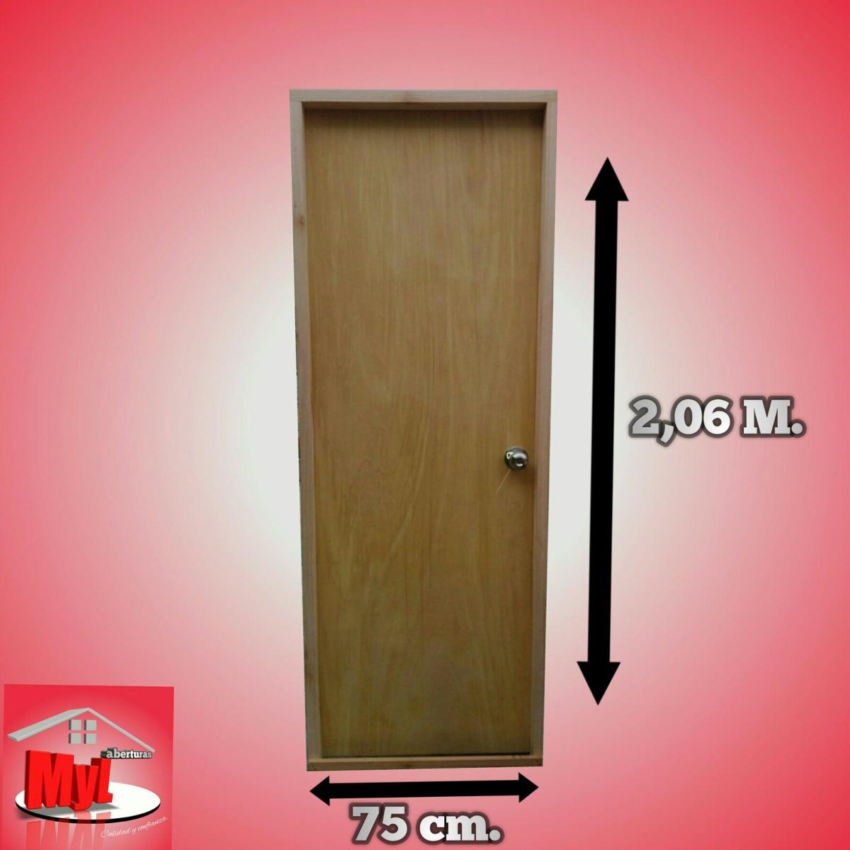Puertas Interiores En Madera - $ 2.490,00 en Mercado Libre