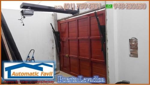 puertas levadizas, seccionales, corredizas, cercos eléctric