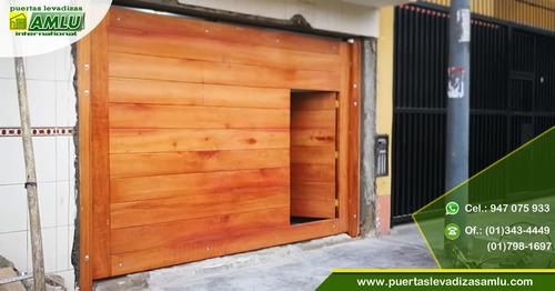 puertas levadizas y seccionales amlu