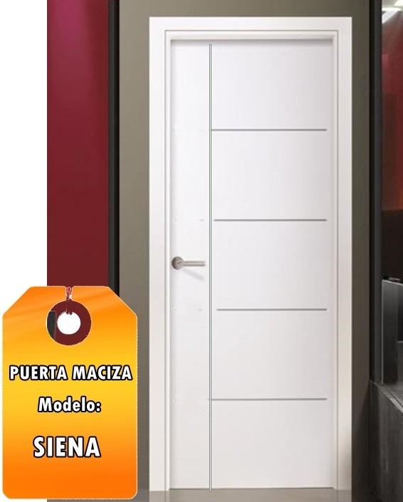 Puertas macizas mdp premium modelo siena en relieve bs for Precio puertas macizas