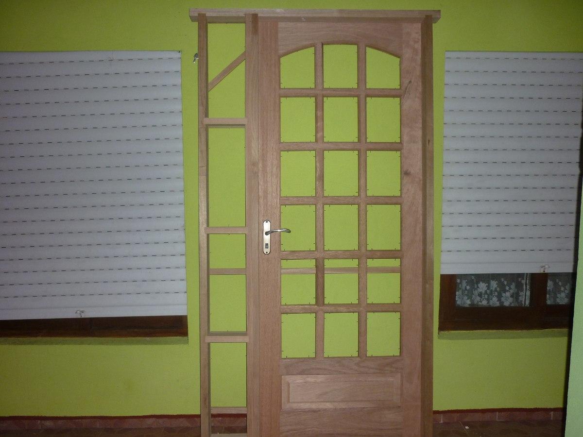 Puertas madera cedro marco madera dura con acople 16 - Marco puerta madera ...