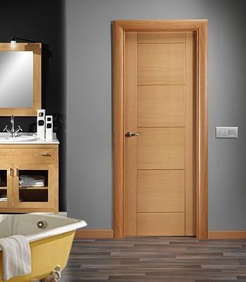 Puertas minimalistas echas a base de madera 100 natural for Puertas de madera para interiores precios