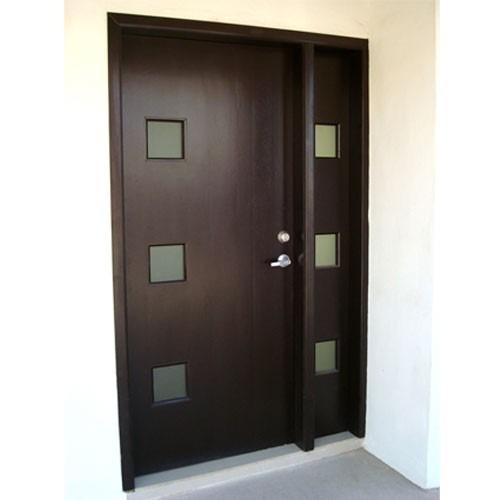 Puertas minimalistas echas a base de madera 100 natural for Disenos puertas de madera exterior