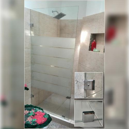 puertas para baño de vidrio templado (incluye esmerilado)